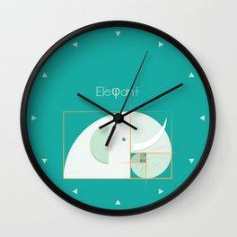Fibonacci elephant Wall Clock