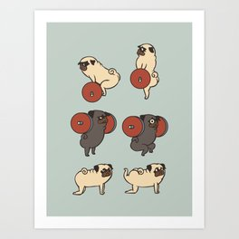 Butt Lift with The Pug Art Print