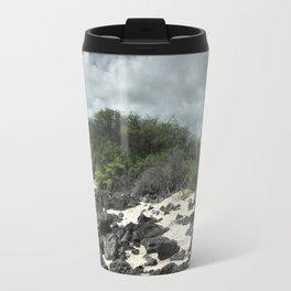 sand and rocks of the Galapagos Travel Mug