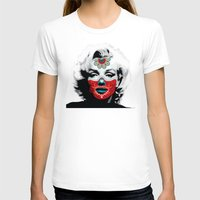 marylin monroe T-shirts featuring Marylin de los Muertos 3 by jazzyjules63
