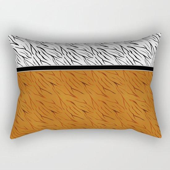 Yellow black tiger pattern . Rectangular Pillow