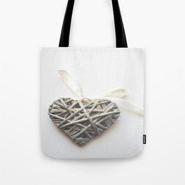 Wicker Heart  Tote Bag
