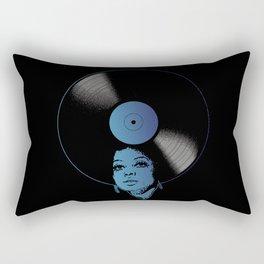 Afrovinyl (Kinda Blue) Rectangular Pillow
