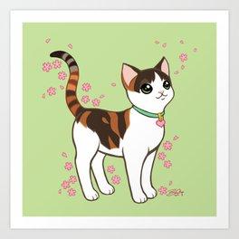 Calli loves Sakura Art Print
