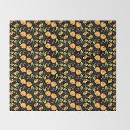 Russian Khokhloma pattern Throw Blanket