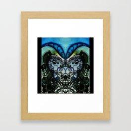 Psychedelic Goat Squid Framed Art Print