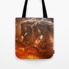 Fire with Horses Tote Bag