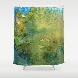 Grün Shower Curtain