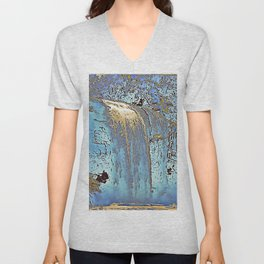 "series waterfall ""Cachoeira Grande"" III Unisex V-Neck"