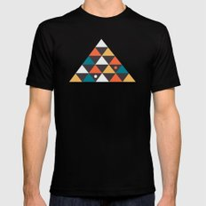 Triangles and a few circles Mens Fitted Tee Black MEDIUM