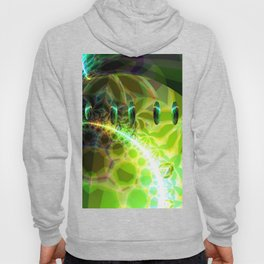 Dawn of Time – Abstract Lime & Gold Emerge Hoody