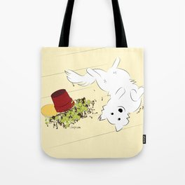 Great Pyrenees Goes Spread Eagle Tote Bag