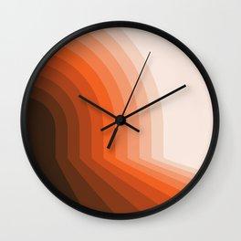 Desert Dusk Halfbow Wall Clock