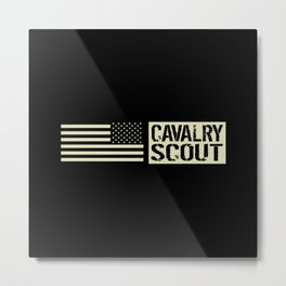 Cavalry Scout (Black Flag) Metal Print