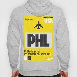 PHL Philadelphia airport code yellow Hoody