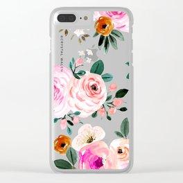Summer Beach Rose Clear iPhone Case