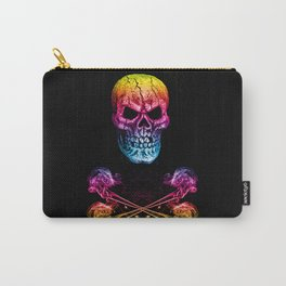 Skull And Crossbones Rainbow Carry-All Pouch