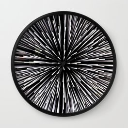 Abstract black and white background Wall Clock