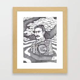 Men at Sea: Tesla and His Bladeless Turbine Framed Art Print
