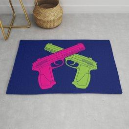 Crossed Pistols Rug