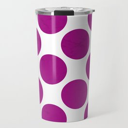 Fuchsia Polka Dot Travel Mug