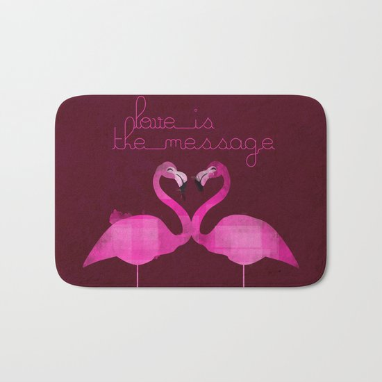 Love is the message Bath Mat