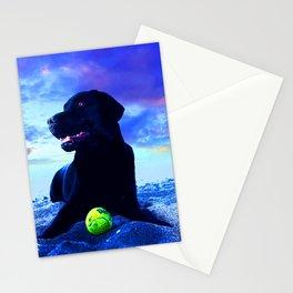 Ziggy Black Labrador Stationery Cards