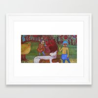 pocket fuel Framed Art Prints featuring Fuel by cathie joy young