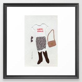 Florida Woman Outfit Framed Art Print