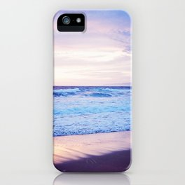 Purple Sunset over Hermosa Beach, Los Angeles  iPhone Case