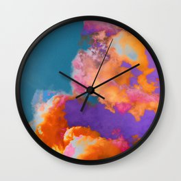 Colorful clouds in the sky Wall Clock