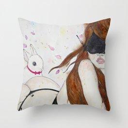 Take Me to Your Wonderland Throw Pillow