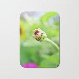 Zinnia Flower Bud Bath Mat