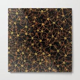 Astrocytes in Warm Colors Metal Print