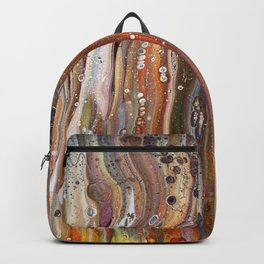 Fluid Acrylic IX - Abstract, original, acrylic pour painting Backpack