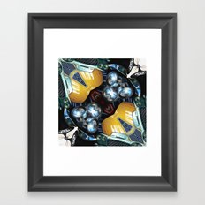 Reflections of Cars Collage Framed Art Print