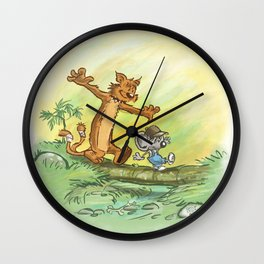 Pellejo & Rakumin - Across the river Wall Clock