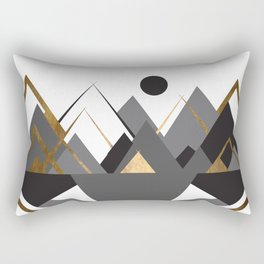 Art Deco Mountain Teepees In Grey Rectangular Pillow