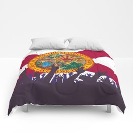 Florida State Flag with Audience Comforters