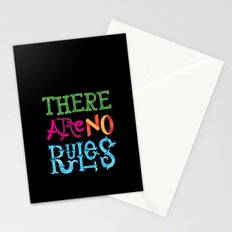 There are no Rules Stationery Cards