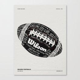 WILSON FOOTBALL FACTORY TOUR Canvas Print