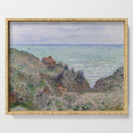 Monet - Cabin of the Customs Watch, 1882 Serving Tray