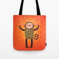 monkey Tote Bags featuring Monkey by Anna Alekseeva kostolom3000