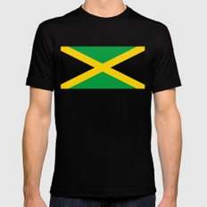 Flag of Jamaica MEDIUM Black Mens Fitted Tee