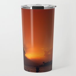 Hawaii Sunset - Ala Moana Beach Travel Mug