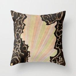 Through the cave heaven (detail) Throw Pillow