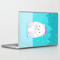 polar bear Laptop & iPad Skins featuring Polar bear by eDrawings38