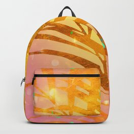 Sultry Summer Sun Golden Palms Backpack