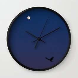 Angel in the night Wall Clock