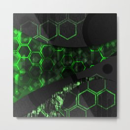 Digital Noise Metal Print